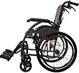 BXU-BG Acero silla de ruedas silla de ruedas plegable portátil...