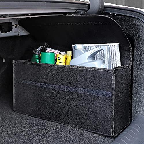 An image of the Vinsani Black Large Anti Slip Foldable Car Boot Organiser Bag for Boot Storage Case Tool Bag Carpet Solution Interior Declutter Boot Tidy Bag Organiser Tools - Suitable for All Vehicles