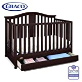 Graco Solano 4-in-1 Convertible Crib with Drawer, Espresso, Easily Converts to...