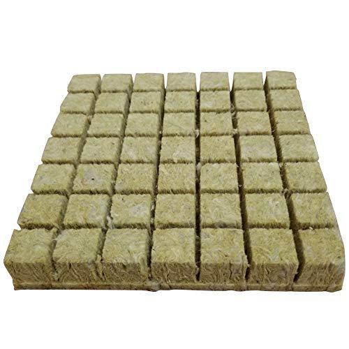 Rockwool Grow Cubes, base di impacco per coltivazione senza suolo idroponica, tappi per principianti in lana di roccia per tagli di radici, piante clonate, semi di avvio, crescita delle piante