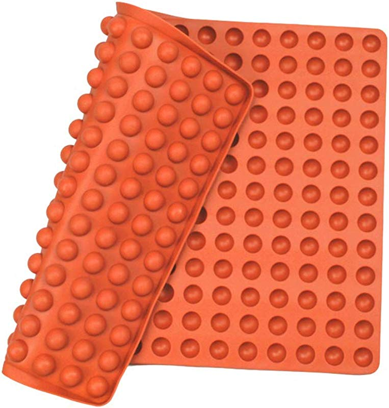 Silicone Baking Mat Cooking Sheets Baking Molds For Pets Non Stick Fat Reducing Mats For Healthy Cooking 1115 5 In Orange 0 6in