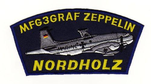 Aufnäher Bügelbild Aufbügler Iron on Patches Applikation MFG 3 Graf zeppelin Nordholz Abzeichen Armee Flugzeug