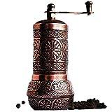 Bazaar Anatolia Pepper Grinder, Spice Grinder, Pepper Mill, Turkish Grinder (4.2' Antique Copper)