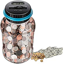 Digital Coin Bank ,Piggy Banks for Adults ,Panda Coin Bank Synchrony BankMoney Counter Piggy Banks,Star Wars Piggy Bank for Boys,Coin jarAdults Boys Girls as Gift , Powered by 2AAA Battery (No)
