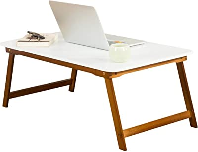 WXCL Folding Table Laptop Table Bed Collapsible Table Student Dormitory Lazy Desk Writing Desk (Size : 60cmx48cmx25cm)