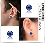 lottoy 1Paar Unisex Ohrstecker, gesunde Magnettherapie Gewicht Verlust blauen Augen Form Ohrringe...