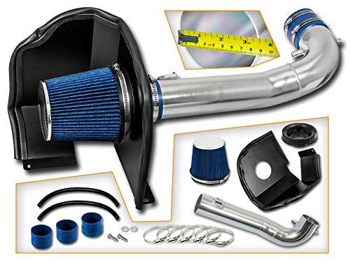 Velocity Concepts BLUE 14-19 For Silverado Sierra 1500 V8 Heat Shield Cold Air Intake + Filter