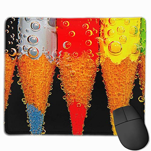 Preisvergleich Produktbild Mouse Pad Colorful Pencil Bubble Painting Rectangle Rubber Mousepad 11.81 X 9.84 Inch Gaming Mouse Pad with Black Lock Edge