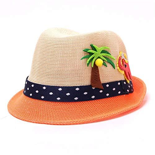 Bucket Hat Chapeau Chapeau De Paille De Noix De Coco Chapeaux D'Été pour Garçon Casquettes Panama pour Fille Activités De Plein Air Casquette De Plage 48-52 Cm Kaki