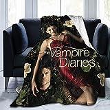 Vampire Diaries Blanket Lightweight Luxury Throw Blanket Fannel Fleece Microfiber Plush Bed Blanket Super Soft Reserviber Blanket for All Season Bed Couch Sofa 3D Print Design