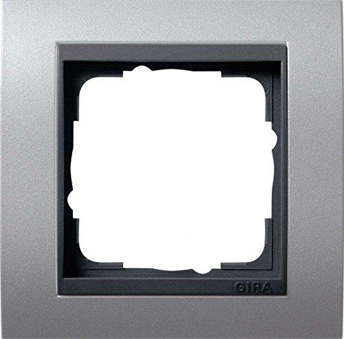 Gira 021106 Abdeckrahmen 1-fach Event aluminium mit anthrazit Zwischenrahmen