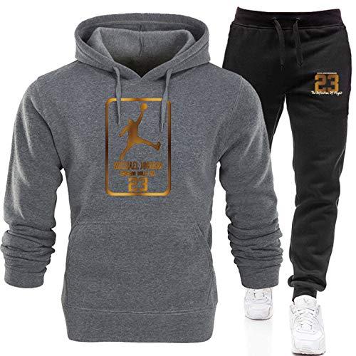 2021 Jordan 23# Mens Basketball Chándales Set, Jordan New Basketball Sudaderas Sudaderas Pantalones Sportswear, Casual Gym Sports Running Training Sudaderas y pantalones 10-L