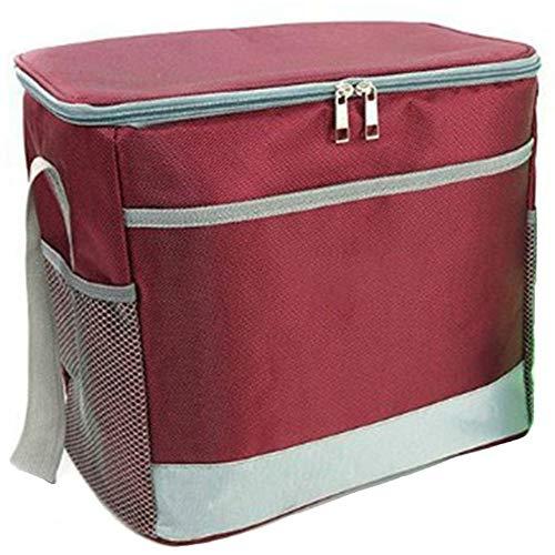 YAOBAO Große, Weiche, Isolierte Picknicktasche Mit Bodenplatte, wasserdichte Kühltasche, Tragbar, Reinigbar, Eine Schulter, Isolation, Lunchpaket, 1 STK,Rot