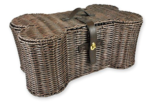 Bone Dry DII Large Wicker-Like Bone Shape Storage Basket, 24x15x9, Pet Organizer Bin for Home Décor, Pet Toy, Blankets, Leashes and Food