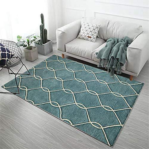 alfombras Antideslizantes cojin Suelo Grande Salón Alfombra Verde Rectangular Moderno Suave y Antideslizante alfombras salón 160X230CM 5ft 3' X7ft 6.6'