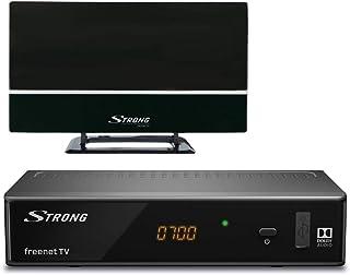 STRONG SRT 8541 Set DVB-T2 receiver met antenne voor freenet-tv (FullHD, HDMI, LAN, SCART, mediaspeler, alleen geschikt vo...