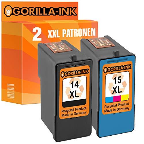 Gorilla-Ink 2 Druckerpatronen für Lexmark 14 & Lexmark 15   1x Black 20ml