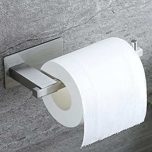 ZUNTO Adhesivo Portarrollos Baño - Portarrollos para Papel Higiénico sin Taladro Acero Inoxidable Soporte Papel Higiénico