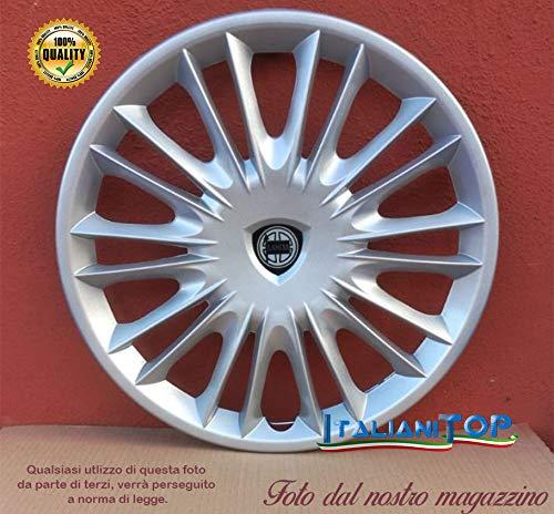 Generico Lancia New YPSILON Oro Copricerchio Borchia Quattro (4) Coppa Ruota 15' 4289 Prod. Nuovo