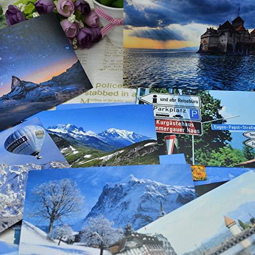 Nordische Landschaften Schweiz Schwedische Alpen Finnland Norwegen Dänemark Skandinavien Island Postkarte