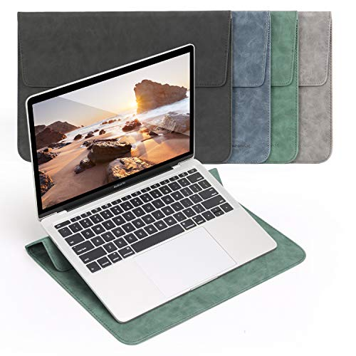 14 Inch Laptop Sleeve with Stand Case Compatible with 14 ThinkPad X1 Yoga,14 Dell HP, 15 Inch Surface Laptop 3,Waterproof Protective Case for HP Acer Dell Chromebook 14,13.9' Lenovo Yoga 920,Green