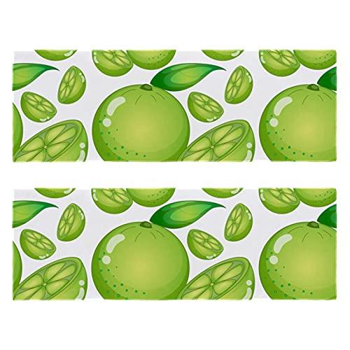Toalla de microfibra con limas verdes y frutas de limón de secado rápido, súper absorbente, ligera, para camping, deportes, natación, piscina, yoga, viajes