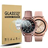 Diruite 4-Pack for Samsung Galaxy Watch 3 41mm and Samsung Galaxy Watch 42mm Screen Protector Tempered Glass [2.5D 9H Hardness] [Anti-Scratch]