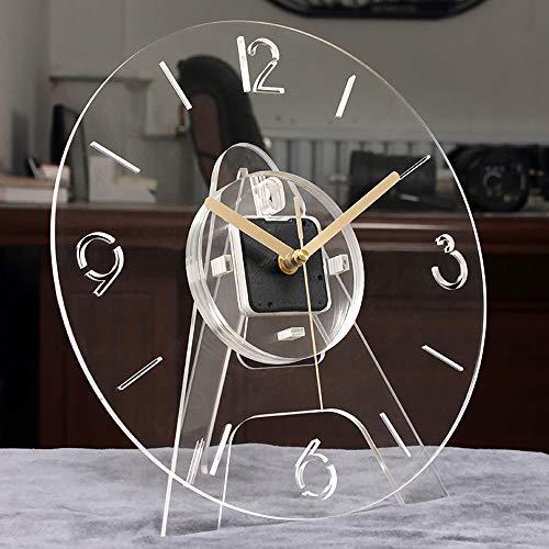 JYCTD Moderno Reloj De Pared AcríLico, Creativo Transparente Soporte Transparente Puede Colocar Colgante Mudo Cuarzo Moda Grande 3D Oficina Casa DecoracióN para Sala Estar Regalo, White