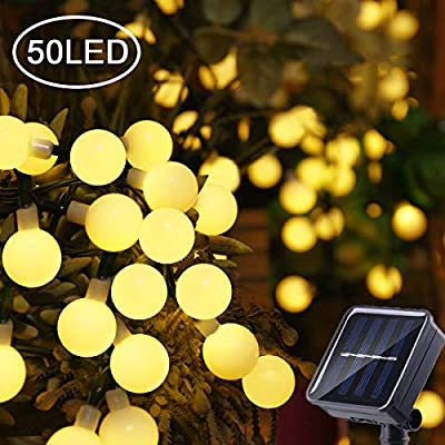 Chinety Solar String Lights Garden, 60 Crystal Balls Waterproof LED Fairy Lights, 8 Modes Outdoor Starry Lights Solar Powered String Lights for Home, Garden, Yard Party Wedding
