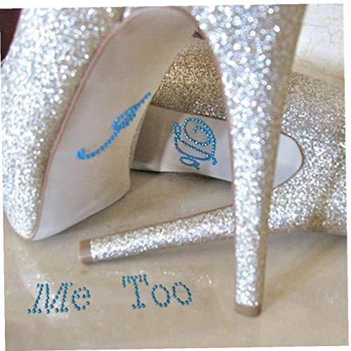 Oulensy 1 Set Acryl Aufkleber Weiß Klar Strass Für Schuhe Dekoration Für Hochzeitsdeko Zufällige Farbe