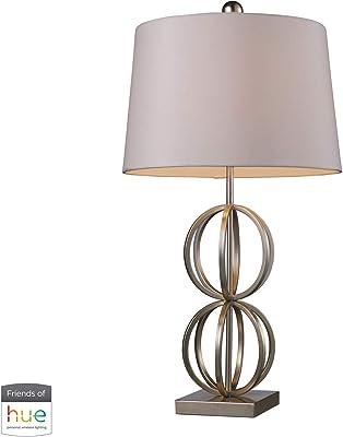 Amazon.com: CCSUN Lámpara de mesa de estudio, hierro forjado ...