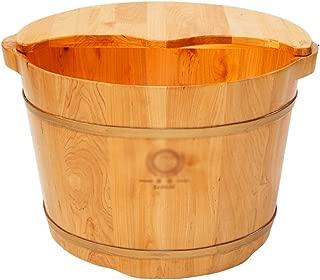 Qing MEI Wood Bubble Foot Barrel Foot Bath Foot Bath Barrel Barrel Foot Basin Acupressure Massage Barrel Tub Home A++