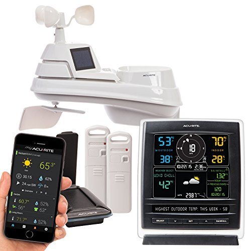 AcuRite 01057RM Color Weather Station Display & 5-in-1 Weather Environment...