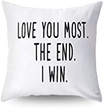 Hoomall I Love You Most The End I Win Decorative Throw Pillow Covers Case Cushion Cover Pillowcase #2