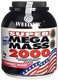 Weider Weight Gainer Mega Mass 2000 Complément alimentaire Fraise3000 g