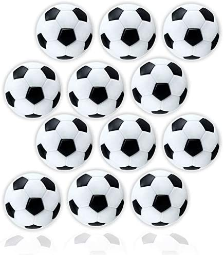 Anapoliz Table Soccer Foosballs Replacement 12 Pack Mini Black and White 36mm Table Soccer Balls product image