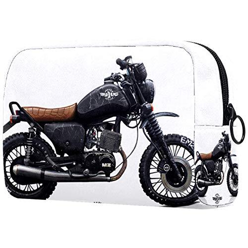 Estuche Multifuncional con Cremallera Durable Bolsa de Cosméticos Bolsa de Papelería Bolsa de Viaje Moto Genial 18.5x7.5x13cm