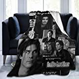 Damon Salva-Tore Blanket Vam-pire Dia-ries Season 5 Team Damon 1864 TV Show Character Art Abstract Picture Modern Family Bedroom Decoration Accessory Theme Gifts Painting Merchandise 60 x 50 Inches