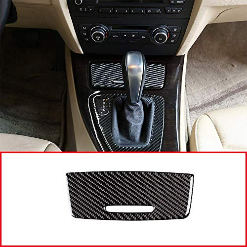 TOP-AUTO Real Carbon Fiber Centrale Controle Sigaret Aansteker Panel Stickers Trim Voor BMW 3 Serie E90 E92 2005-2012 Auto Accessoires