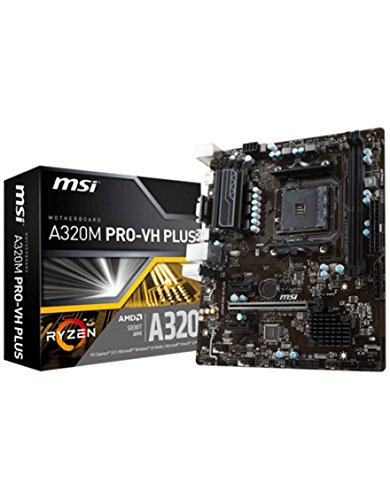 MSI A320M Pro-VH Plus - Placa Base Pro (DDR4 Boost, VR Ready, Audio Boost, EZ Debug Led, Military Class 4)