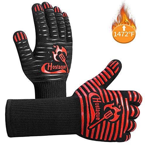 Grilling Gloves 1472℉ Extreme Heat Resistant, Grill BBQ Gloves for...