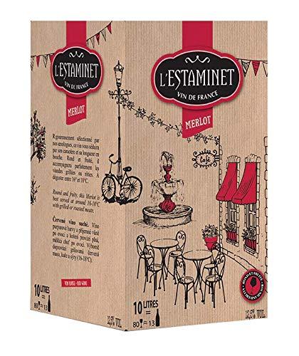 cubi 10l vin rouge leclerc