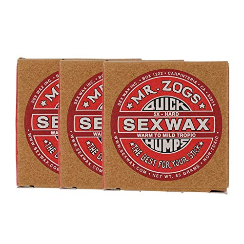 SEXWAX(セックスワックス) サーフィン ワックス クイックハンプス 5X 3個セット
