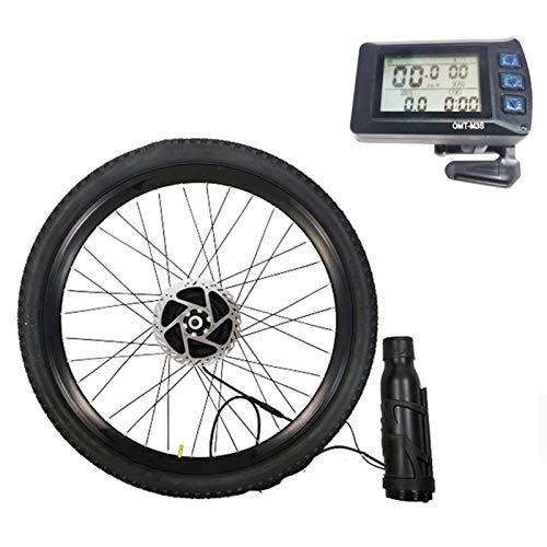 TIM-LI Kit De Conversión Impermeable para Bicicleta Eléctrica, Motor De Engranaje De Rueda De Radios Delanteros De 36 V / 250 W con Pantalla De Medidor Bluetooth Y Batería,Disc Brake,29'