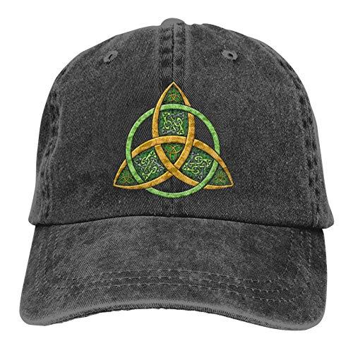 Celtic Trinity Knot Adjustable Hats for Men Women Funny Baseball Cap Vintage Dad Hat Black