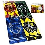 Warner Bros. Harry Potter Beach Towel Hogwarts Houses Crest 28 x...