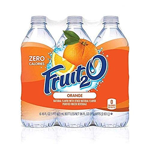 flavored waters Fruit2O Zero Calorie Flavored Water, Orange, 6 Count (Pack of 4)