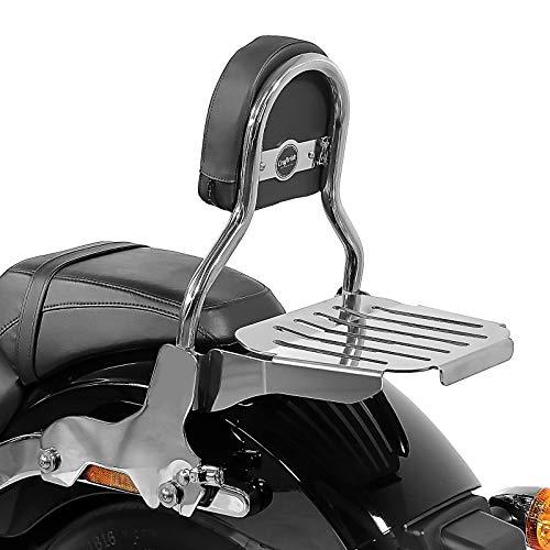 Bester der welt Harley Softail Sport Glide 18-20 Sissy Bar aus Edelstahl mit Kofferraum CL