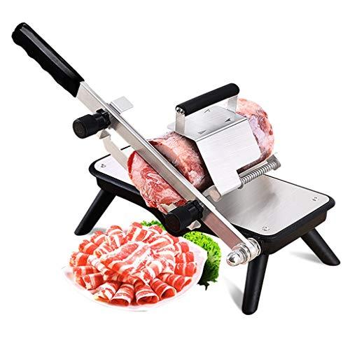 ZWB Carne Máquina Cortar Multifunción máquina de Cortar Carne congelada de Verduras, Manual del Procesador de Acero Inoxidable del Interruptor de la Carne de Cordero con Queso de Tocino Rollo