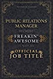 Notebook Planner Public Relations Manager Because Freakin' Awesome Is Not An Official Job Title Luxury Cover: Personal Budget, 5.24 x 22.86 cm, ... Pages, A5, Life, Homeschool, Monthly, Budget -  Independently published